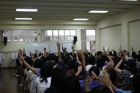 シンガポール日本人学校中等部様にて講演いたしました<span class=