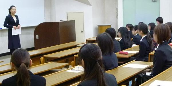 東洋美術学校様にて就活メイク&マナー講座を 担当いたしました<span class=