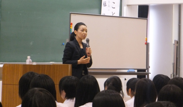 岩手県立盛岡第三高等学校様にて講演をさせていただきました<span class=