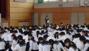 画像:知多市内中学校