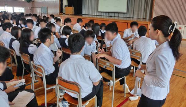 青森県立青森南高等学校様にて講演をさせていただきました