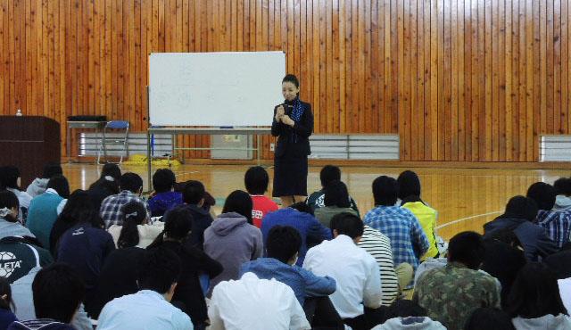 2015年5月21日長野県長野吉田高等学校様にて講演をさせていただきました